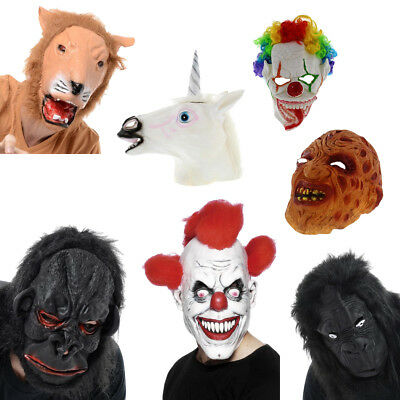 Deluxe Latex Halloween FULL FACE Masks Scary CLOWN - Full Face Maske Kostüm