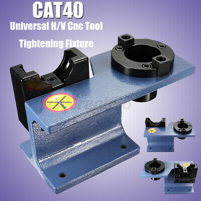 Aluminum Cat 40 Universal Cnc Tighten Tool Holder Tightening Fixture Blue