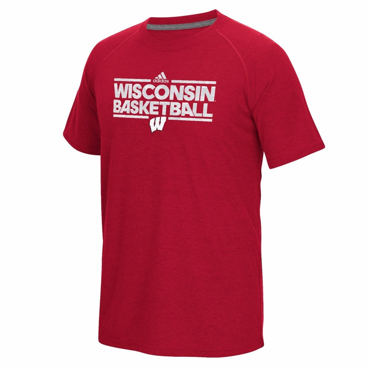 Women's adidas Wisconsin Badgers Ultimate climalite Tee