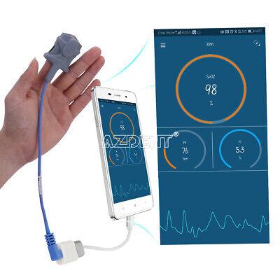 Handheld Fingertip Pulse Oximeter Usb Blood Oxygen Monitor Spo2 For Android
