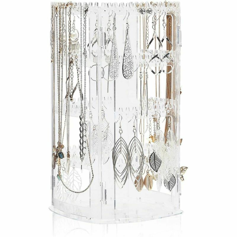 Rotating Jewelry Holder, Necklace Display Stand (6.3 x 11.75 x 6.3 in)