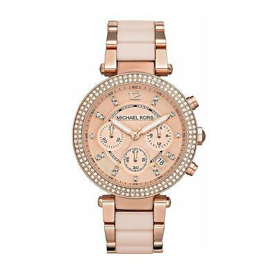*NEW* ORIGINAL MICHAEL KORS LADIES WATCH MK5896 PARKER ROSE BNIB 2Y WARRANTY