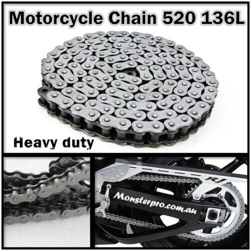 KMC 520 136L Motorcycle Drive Chain YAMAHA Raptor90 TT-R230 TT-R250