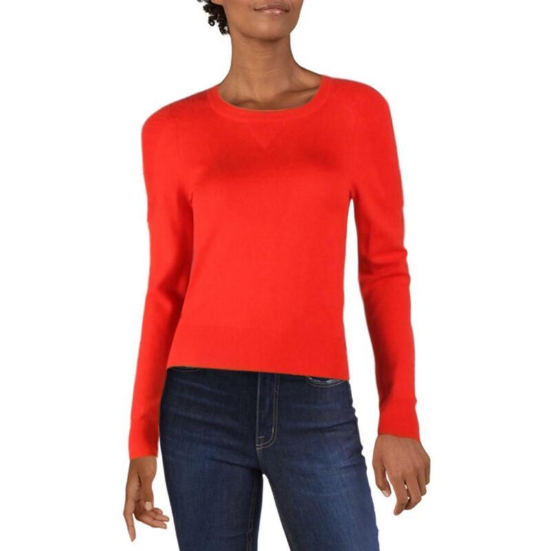 Rag & Bone Womens Ribbed Trim Detailed Shirt Crewneck Sweater Top BHFO 0764