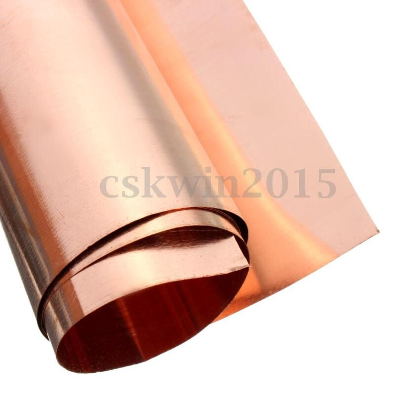 99.9% Pure Metal Copper Sheet Foil For Metalworking Handicraft