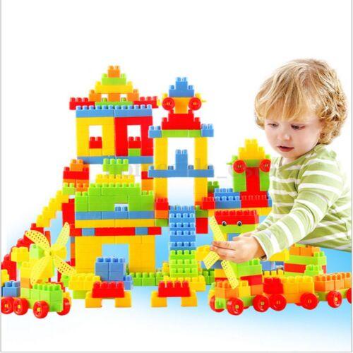 80Pcs Plastic Children Kid Puzzle Educational Building Blocks Bricks Toy Animal