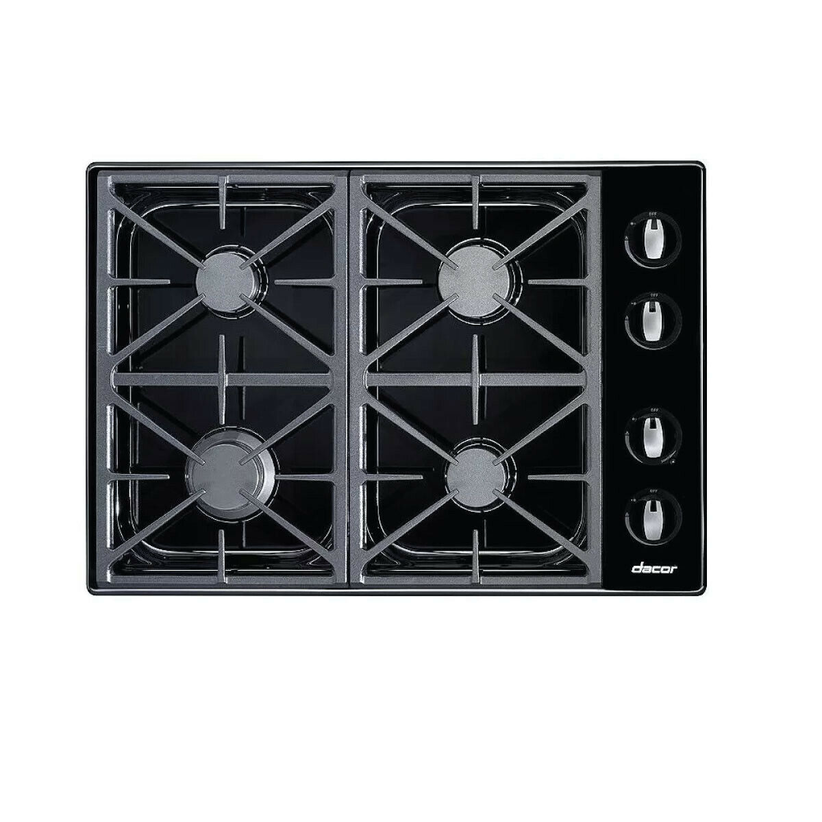 Dacor Renaissance RGC304BNGH 30 Inch Gas Cooktop with 4 Seal