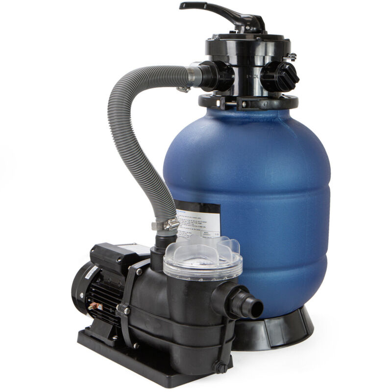 """13"""" Sand Filter with 3/4HP Water Pump Above Ground Swimming Pool Pump 2400GPH"""