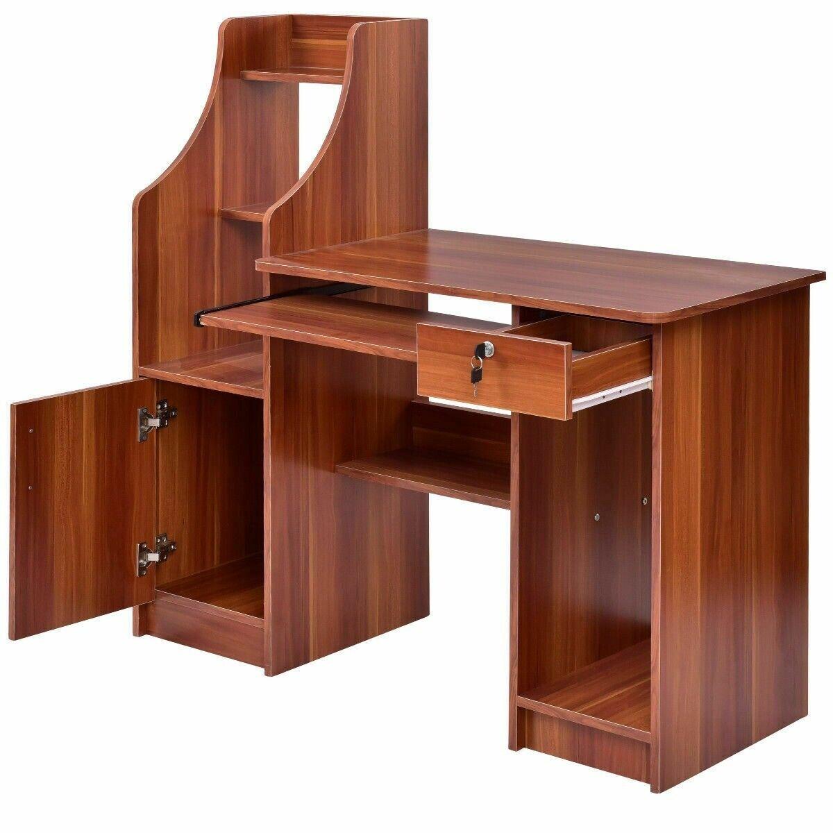 computer desk with drawers study table bookshelf