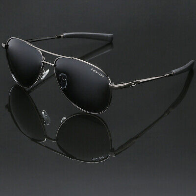 Polarized Sport Aviator Sunglasses Driving Fishing Anti Glare Lens Pilot Glasses