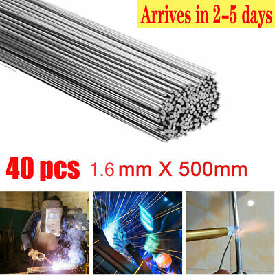 40pcs 1.6mm Super Melt Flux Cored Aluminum Easy Welding Rods High Quality Usa