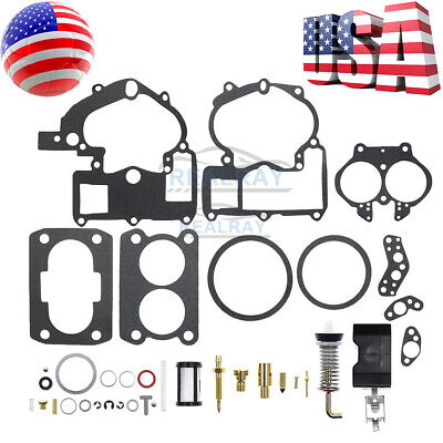 For Mercruiser Carburetor Kit 3302-804844002 3.0L 4.3L 5.0L 5.7L Mercarb Repair
