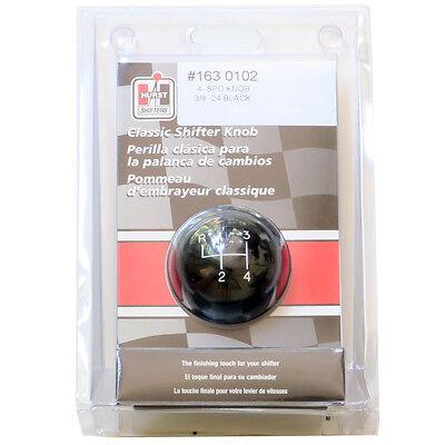 HURST 1630102 4 SPEED BLACK Classic SHIFTER BALL KNOB 3/8 X 24 Fine Thread 0102 - Hurst Classic Shifter Knob