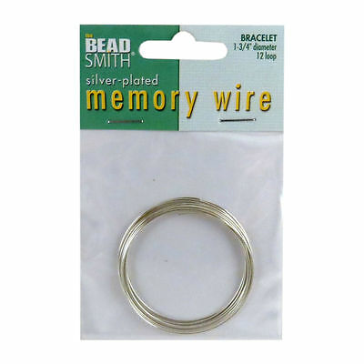 Plated Memory Bead Smith Wire Bracelet or Necklace 12 loops