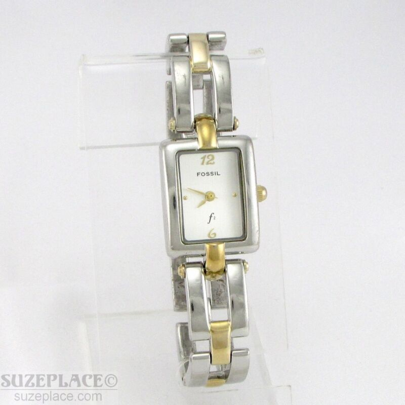 FOSSIL F2 TWO TONE LADIES WATCH BRACELET STYLE BAND ES-8924