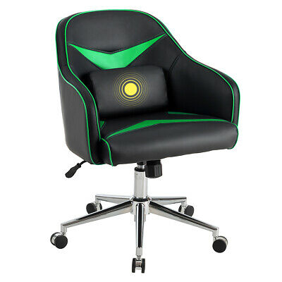 Swivel Office Chair Modern Task Desk Adjustable W Massage Lumbar Support Green