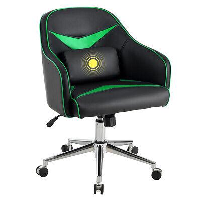 Swivel Office Chair Modern Task Desk Adjustable W Massage Lumbar Support Green