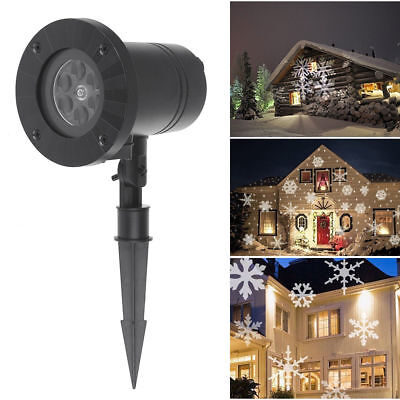 Snowflake Laser Lights Projector Christmas Party Decor Lamp Outdoor indoor US](Lighted Snowflakes Outdoor)