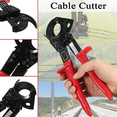 Ratchet Cable Cutter Awg 600mcm Ratcheting Wire Plier Hand Tool Cut Up To 240mm