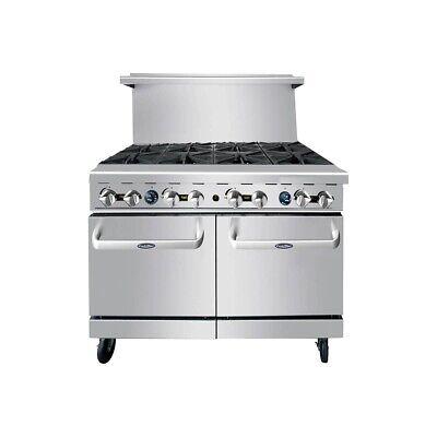 Atosa Usa Agr-8b-ng 48 Gas Restaurant Range 2 Space Saver Ovens 8 Open...