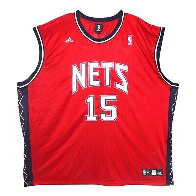Vince Carter Adidas New Jersey Nets Red Alternate Replica Jersey Men's 4XL