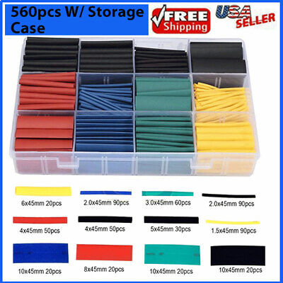 560pcs Heat Shrink Tubing Insulation Shrinkable Tube 21 Wire Cable Sleeve W Box