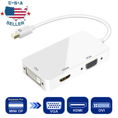 Thunderbolt Mini Display Port DP To HDMI DVI VGA Adapter for Macbook Pro Air Mac