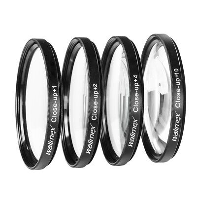 walimex Close up Makrolinsen Set 58 mm 4er Set: +1, +2, +4 und +10 Dioptrien