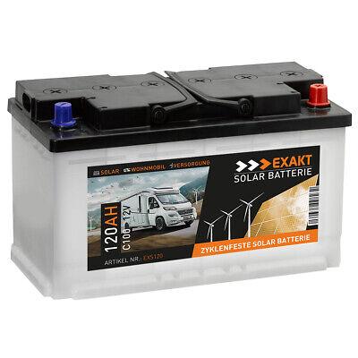 Solarbatterie 120Ah 12V USV Wohnmobil Antrieb Versorgung Boot Solar Batterie Marine Batterie