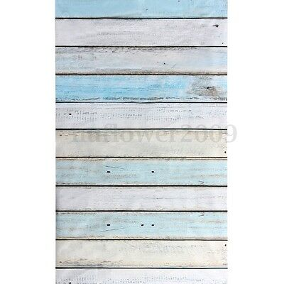 3x5FT Wooden Wall Floor Photography Background Studio Blue Vinyl Photo Props (Wholesale Photography Props)