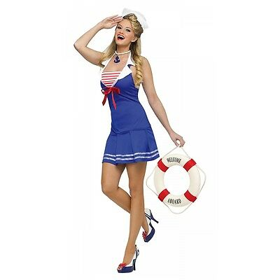Sailor Girl Costume Adult 40s 50s Pin Up Halloween Fancy Dress
