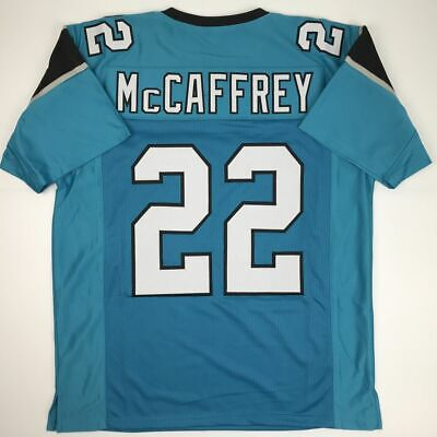 7c461f6f329 New CHRISTIAN MCCAFFREY Carolina Blue Custom Stitched Football Jersey Men s  XL