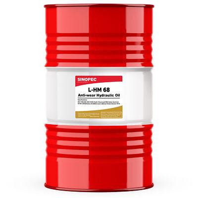 Sinopec Aw 68 Hydraulic Oil Fluid Iso Vg 68 Sae 20 - 55 Gallon Drum