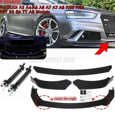 Front Bumper Lip Splitters Rod Struts Support For AUDI A3 A4 A5 A6 A7 A7 A8 Q3