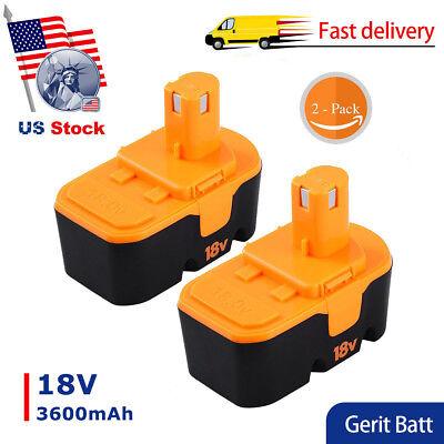2X3600mah Replace For Ryobi 18V Battery P100 P101 One  Abp1801 Abp1803 Bpp1820