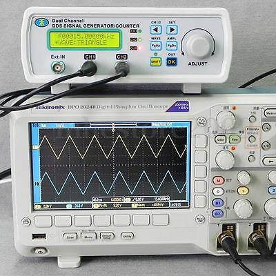 Digital DDS Dual-channel Signal Generator Source Frequency Meter 25MHz US Ship!