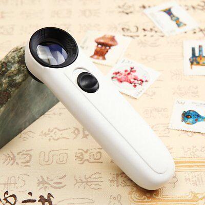 Pocket Jewelery Lens 40 X Loupe Eye Magnifier LED Light Magnifing Glass - Magnifing Glass
