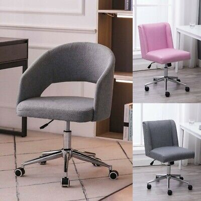 Fabric Task Chair Swivel Office Armless Executive Desk Chair Home Furniture
