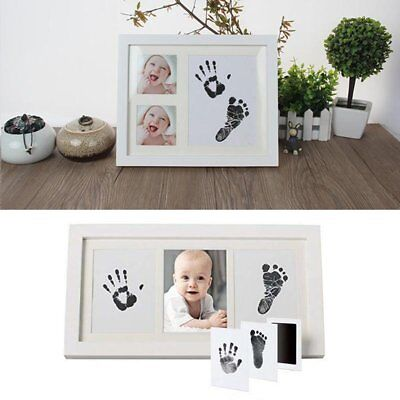 Footprint Keepsake (Inkless Wipe Baby Kit-Hand Foot Print Keepsake Newborn Footprint Handprint)
