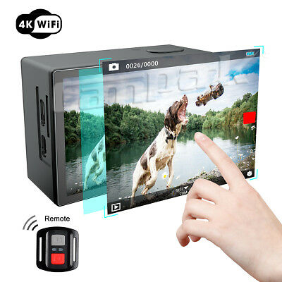 Campark X20 Action Kamera 4K Sportcam 20MP Wasserdicht Touchscreen Fernbedienung
