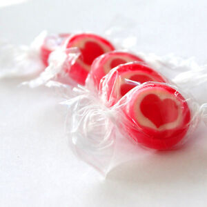 Rocks Bonbons Herz, rot-weiß, 500gr ca. 140 Stk. süße Tischdeko, Hochzeit, Taufe