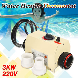 220V 3KW  Swimming Pool SPA Hot Tub Electric Water Heater Thermostat  50/60Hz