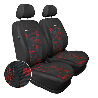 Schwarz-graue Dreiecke Classic Sitzbezüge für FORD FIESTA Autositzbezug Set