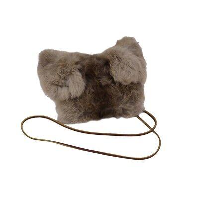 Rabbit Fur Purse Handbag (Real Genuine Rabbit Fur Purse High Fashion Evening Bag Handbag Cell Phone)