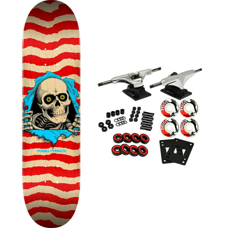 """Powell Peralta Skateboard Complete Ripper Nat/Red 8.5"""" x 32"""""""