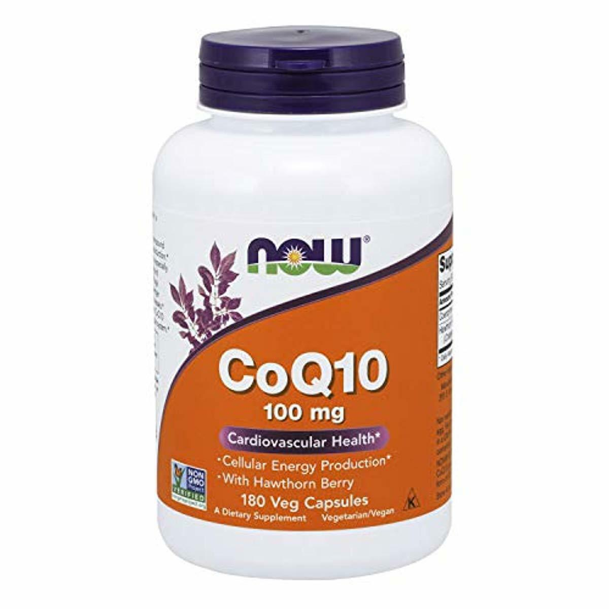 Now Supplements, CoQ10 100 mg with Hawthorn Berry, Pharmaceu