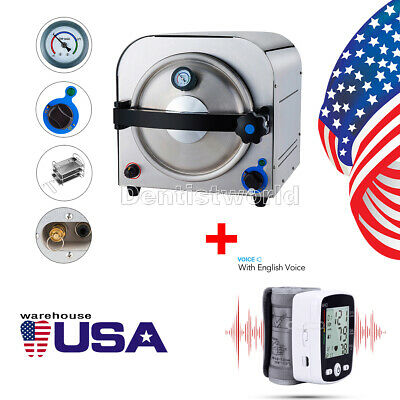 14l Medical Autoclave Steam Sterilizer Instrument Wrist Blood Pressure Monitor