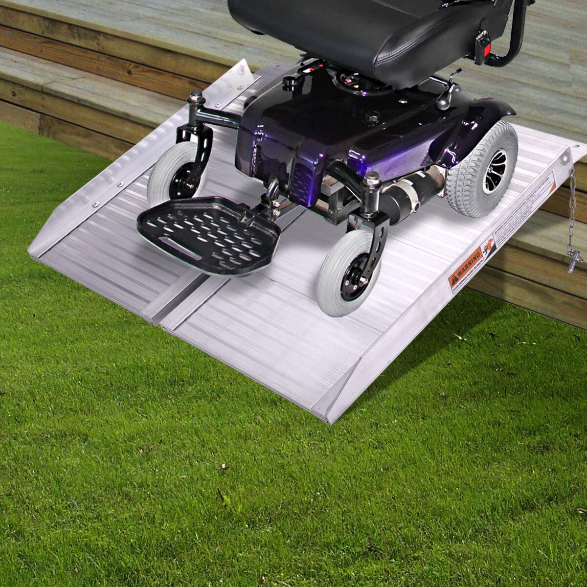 2' Folding Easy Portable Wheelchair Ramp Mobility Handicap S