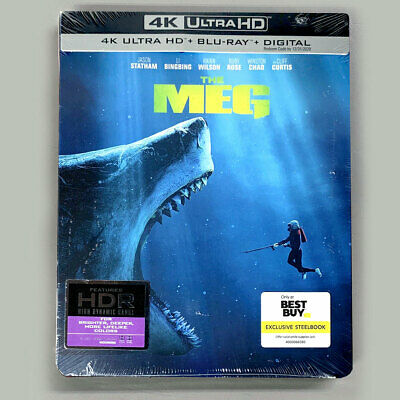 NEW The Meg Best Buy Exclusive Steelbook 4K Ultra HD+Blu-ray+Digital US