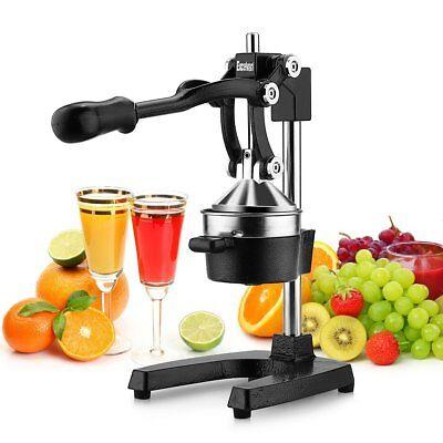 Excelvan- Exprimidor manual de Frutas de Palanca profesional Licuadora de Acero